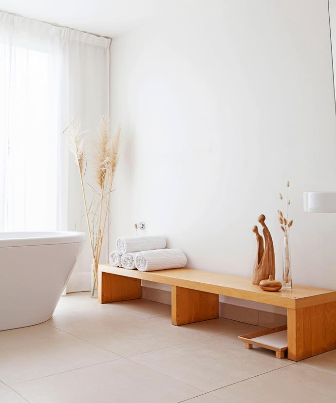 """Diana made bathroom curtains with fabric from [Spotlight](https://www.spotlight.com.au/