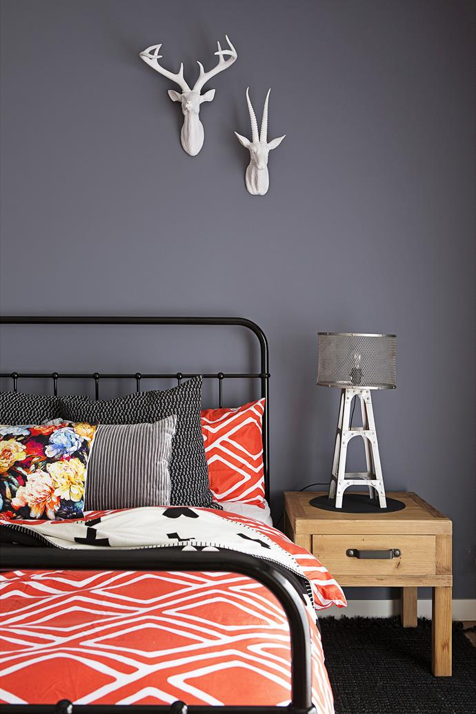"The orange Nara quilt cover set brightening up the guestroom was a $10 [Kmart](http://www.kmart.com.au/|target=""_blank"") find."