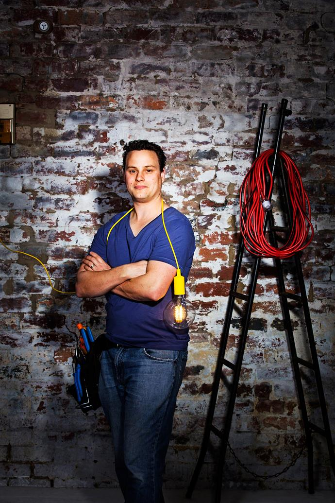 """""""As is the case in any trade, you need to listen to a customer and deliver what they're asking of you,"""" says electrician Chris Hyatt.  Photo: Martina Gemmola"""