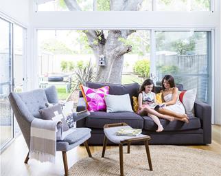 New build open living room