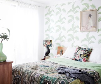 Eclectic coastal bedroom
