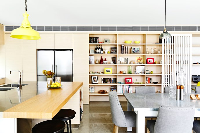 Contemporary open dining kitchen
