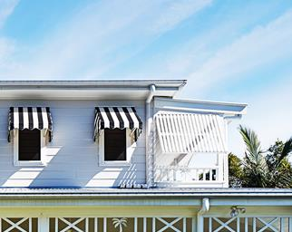 Striped awnings