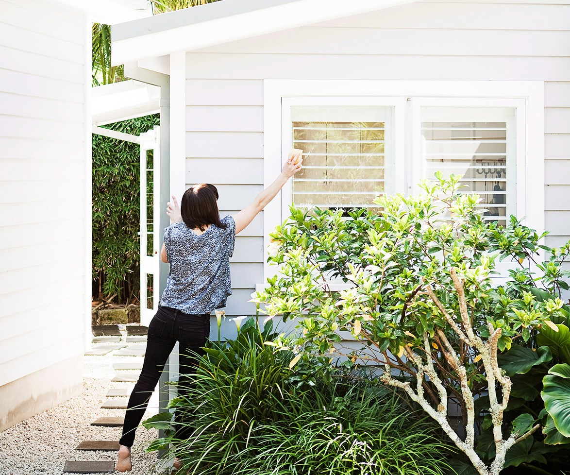"""Get your outside areas in tip top shape with this [step-by-step exterior house cleaning guide](http://www.homestolove.com.au/step-by-step-exterior-house-cleaning-guide-1739 