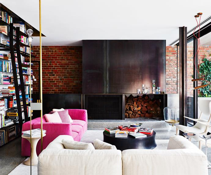 "Architect Stephen Jolson was presented with the client's brief for this new build Melbourne home five years ago. ""It was of paramount importance that she be immersed in her books,"" he says.   [Cassina](http://www.cassina.com/en