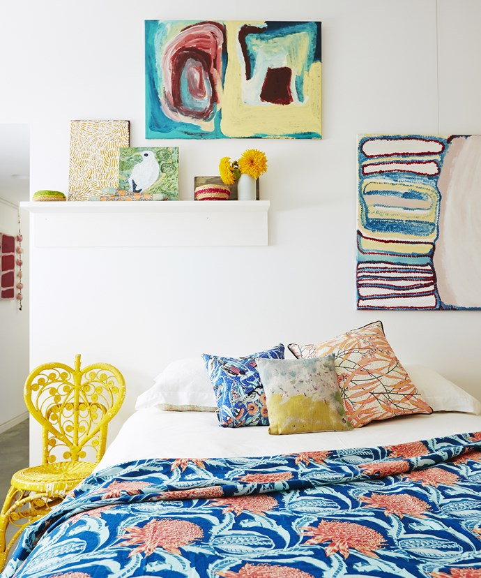 This room plays with colour and pattern but sticks to a united colour scheme. Photo: John Paul Urizar / bauersyndication.com.au