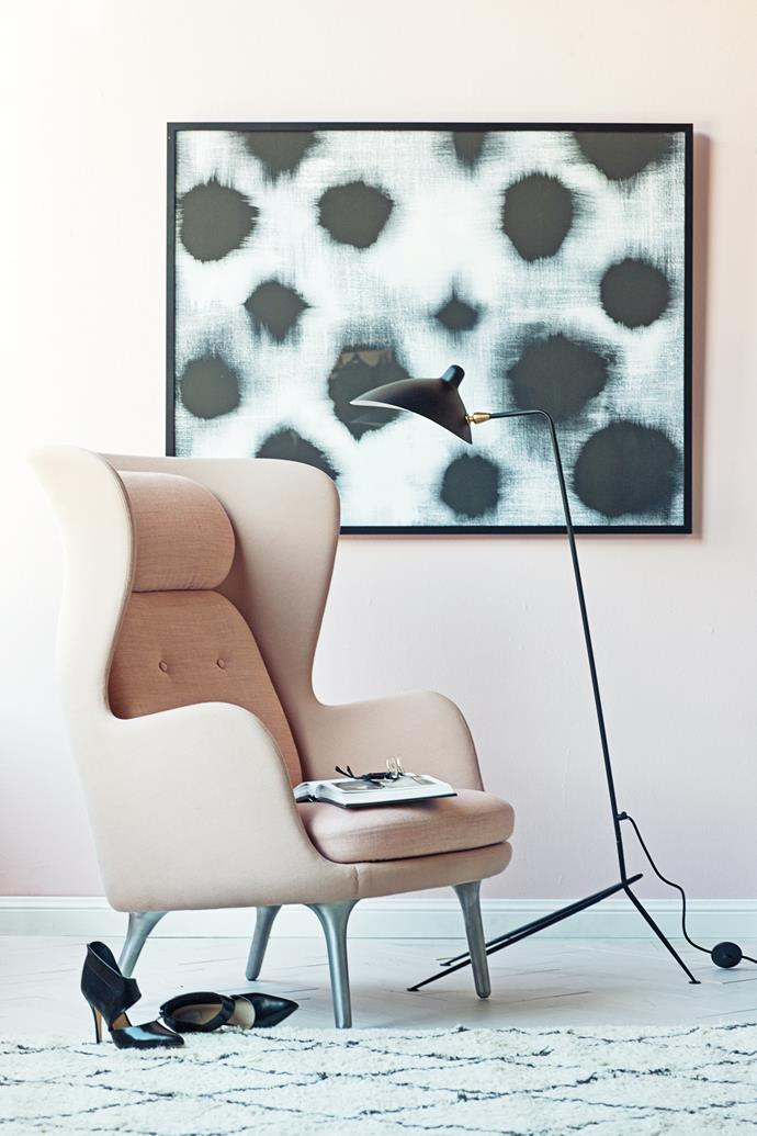 """We've embraced the curvaceous lines of a Jaime Hayon chair with the addition of a sweet Coco Flip Puku ottoman. This sinuous look is key to a ladylike living room. Select round pieces in furniture but pare back with something sleek and slender for maximum impact.   Poised luxe [Jaime Hayon](http://www.hayonstudio.com/