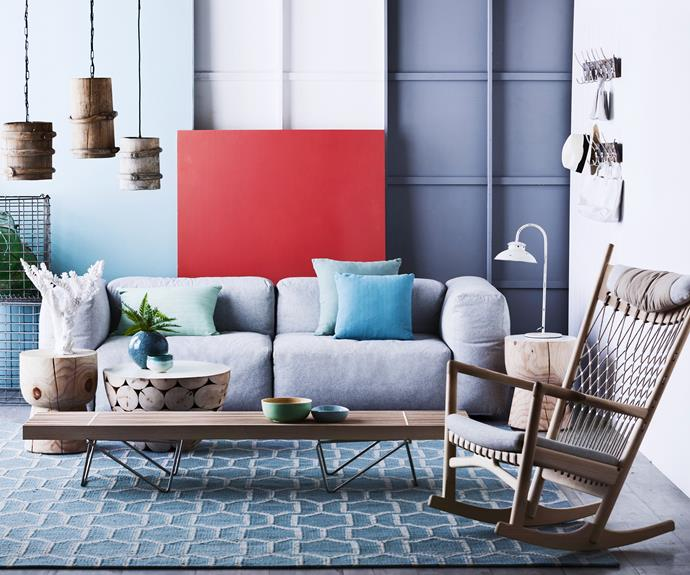 """Rustle up some rustic elements to mix in with the new. They contribute depth and balance to a contemporary scheme. Antique butter churn **pendant lights** from [The Country Trader](http://www.thecountrytrader.com.au/