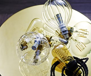 Bare light bulbs