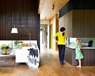Open plan timber flooring