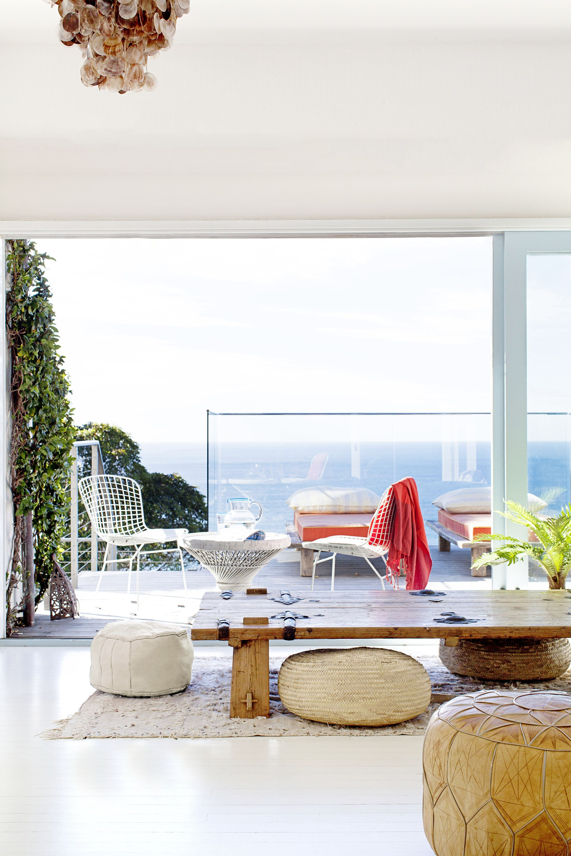 Rustic timber and pops of pastel are not uncommon in this [Moroccan inspired beach house](http://www.homestolove.com.au/gallery-heidis-moroccan-inspired-beach-house-1830) with panoramic views of the ocean between Palm Beach and Whale Beach on Sydney's northern beaches. Photo: Françoise Baudet / real living