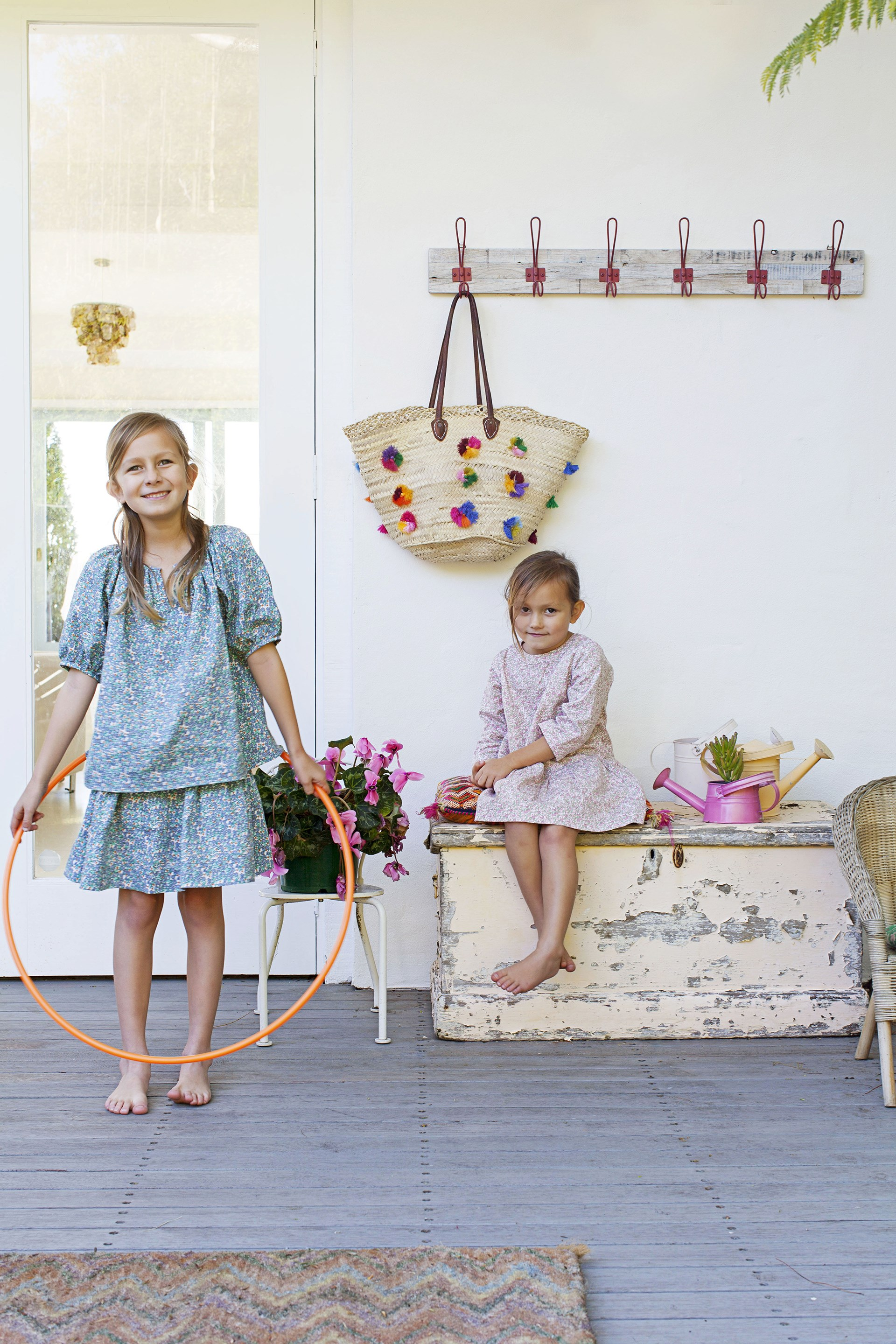 """Outdoor spaces are a must for kids, just ask Ella and Gisele. The back verandah of their [Moroccan-inspired beach house](http://www.homestolove.com.au/gallery-heidis-moroccan-inspired-beach-house-1830