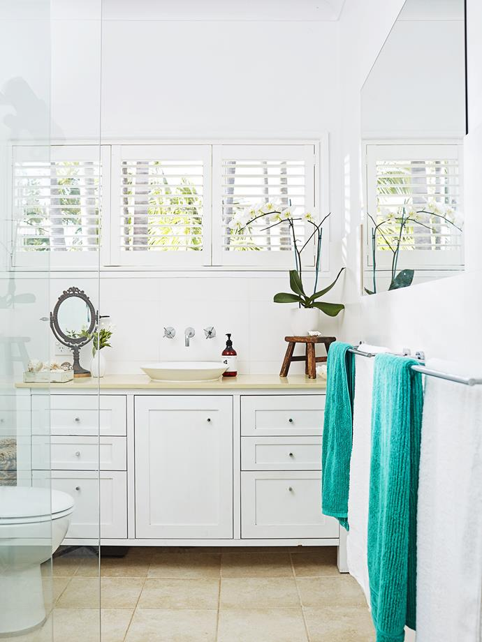 Plantation shutters are perfect for providing privacy and ventilation.