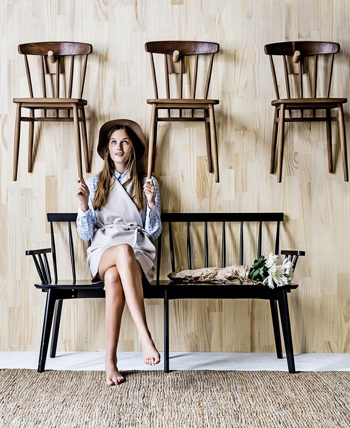 "To capture the Shakers' rustic, minimal interior look, start with a neutral colour palette, with warm whites, soft beiges and muted greys adding warmth to your interior. Then introduce distinctive, Shaker-style timber chairs, originally made in lightweight wood so they could be hung on peg rails. Copy this look by hanging chairs on wall pegs; not only is it a perfect storage solution, but it helps to achieve the clutter-free style embraced by the Shakers.   Barnet **bench** in Black from [Freedom](http://www.freedom.com.au/|target=""_blank""). **ON WALL** American oak/leather coat **hooks** by Chris Colwell frp, [Small Spaces](http://www.small-spaces.com.au/