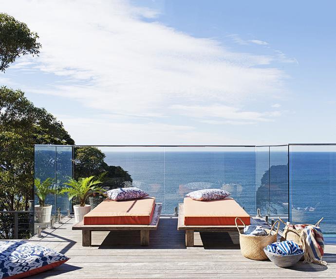 Moroccan-styled beach balcony