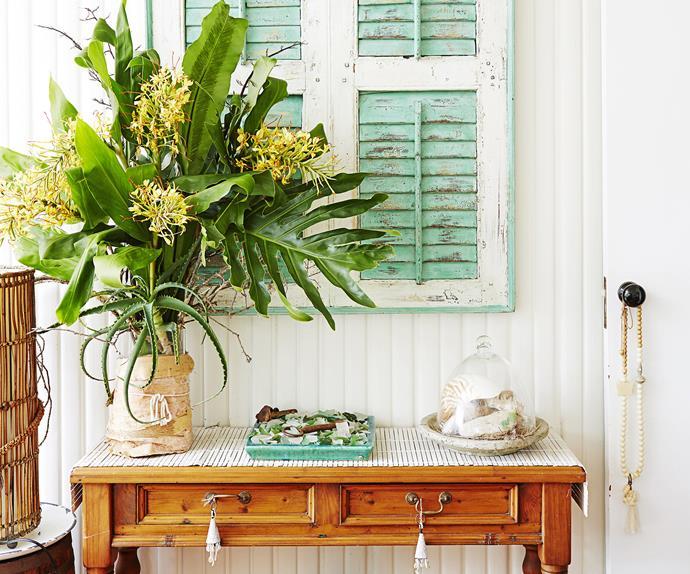 Flowery coastal living room