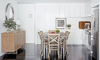 Contemporary kitchen dining combination