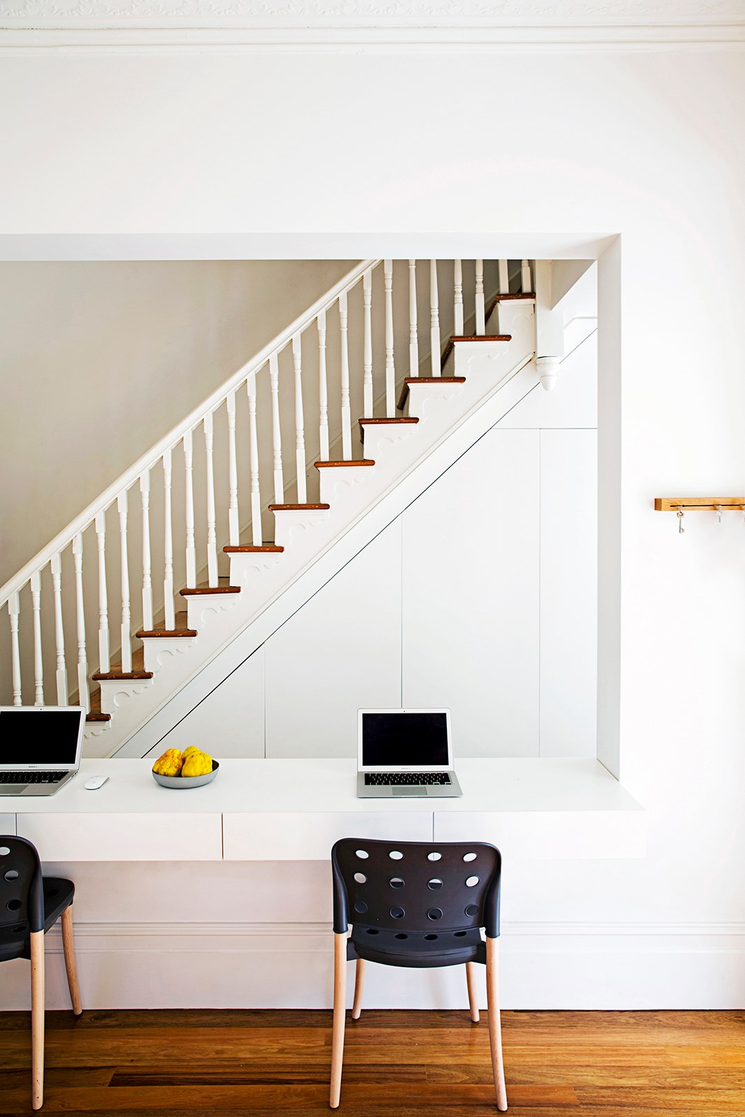 """A wireless connection to the internet is essential for a [harmonious household](http://www.homestolove.com.au/gallery-kate-and-steves-family-terrace-renovation-1849