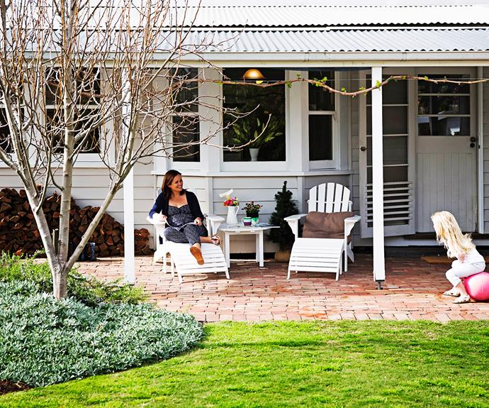 "[The garden of this cottage in Williamstown](http://www.homestolove.com.au/claire-and-alexs-classic-backyard-makeover-1861|target=""_blank"") is perfect for a growing family. It's fun for the kids, with plenty of scope for play while the parents look on, cuppa in hand. Photo: James Henry / *homes+*"