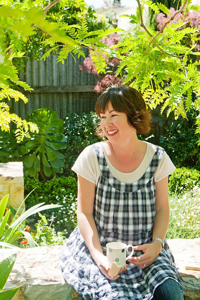 """Looking after the garden is never a chore. I secretly find trimming the hedges relaxing,"" Anna says."