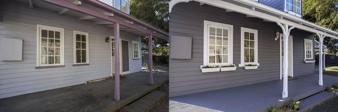 **BEFORE AND AFTER:** All the old pavers were ripped up and sold for $400.