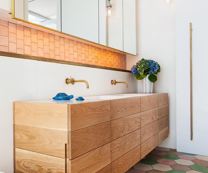 Timber and tiled bathroom