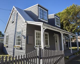 Timber weatherboard exterior renovation