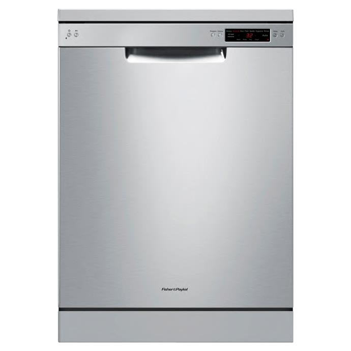 **Fisher & Paykel DW60CKX1 dishwasher, $1199**  4-star energy rating  Boasting a 5.5-star WELS rating as well as a high energy rating, this 14-place-setting dishwasher has a half-load program, energy-saving delayed-start option and a three-way self-cleaning filtration system.