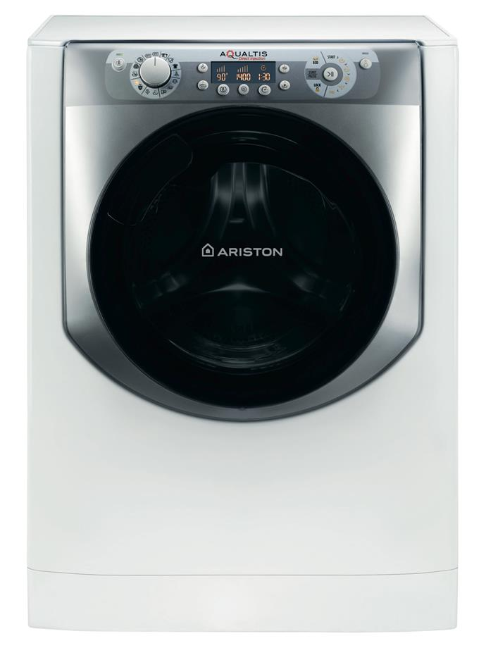 **Ariston Aqualtis AQ94 F49D AUS 9kg front loader washing machine, $1799**  4.5-star energy rating  A 4-star WELS rating is teamed with Direct Injection Technology in this model. Eco-Tech is among the 16 programs on offer; it will assess the load composition and adjust the wash accordingly.