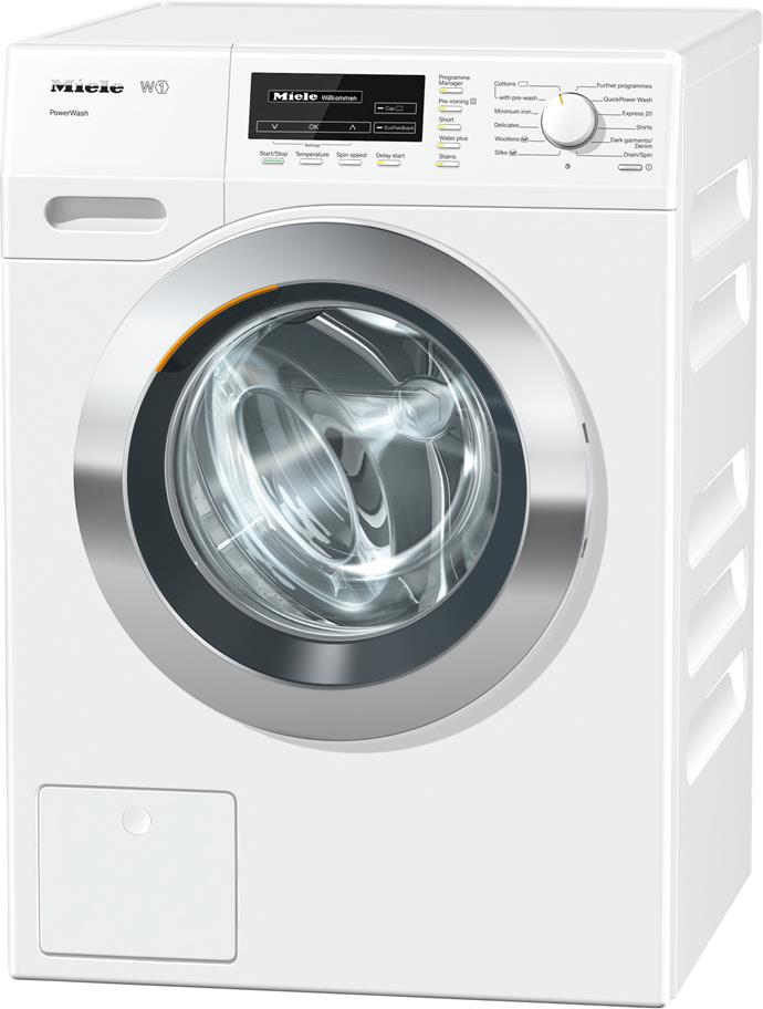 **Miele WKF130 PWASH AU 8kg front loader washing machine, $2599**  4.5-star energy rating  This model features a powerful, efficient motor and a 4.5-star WELS rating. The QuickPowerWash completes a full cycle in less than an hour and offers the user energy consumption feedback.