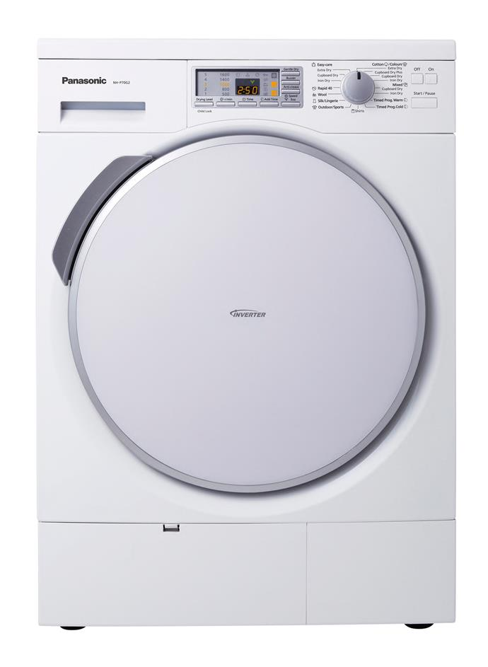 **Panasonic NH-P70G2WAU 7kg heat pump dryer, $2499**  6-star energy rating  Drying clothes at 45°C means saving energy and protecting your clothes from damage, too. An inverter ensures this dryer uses the least energy possible.