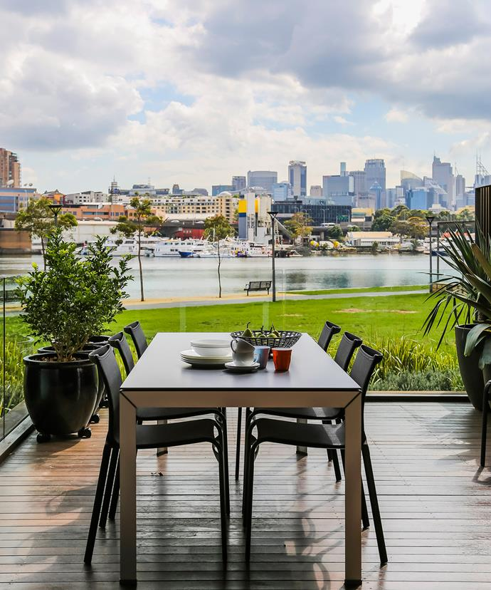 The owners of this townhouse in Sydney's Inner West have the best of public and private space with a waterfront park outside, and a terrace attached to their home. Photo: Maree Homer / bauersyndication.com.au