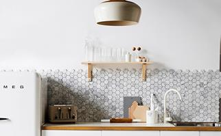 Energy efficient fridge in modern kitchen