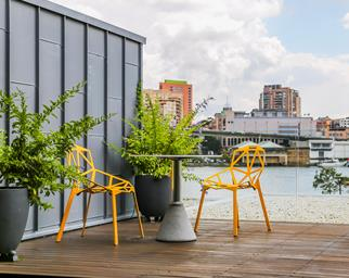Outdoor space in the inner-city.