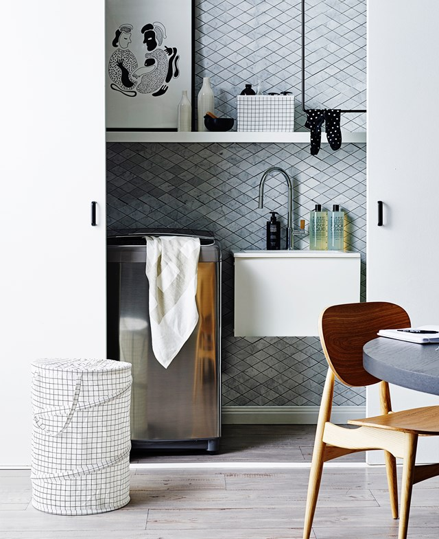 "Be inspired by these [three stylish laundry ideas](http://www.homestolove.com.au/3-stylish-laundry-ideas-1925|target=""_blank""). Photo: Brett Stevens"