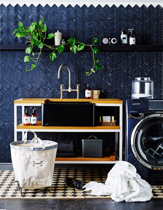 "When it comes to your laundry, you should [create a space you actually want to spend time in](http://www.homestolove.com.au/3-stylish-laundry-ideas-1925|target=""_blank""), not one you want to hide away. Photo: Brett Stevens"