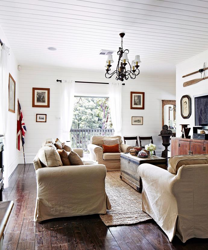A neutral colour palette of white and cream works best in a country style home. Add interest with accessories. Photo: Armelle Habib / bauersyndication.com.au