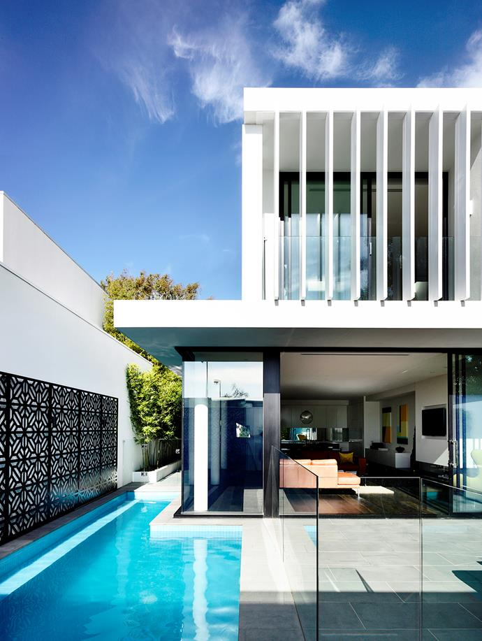 "This 11x3.3m pool wraps around one corner of the Melbourne home of architect [Martin Friedrich](http://www.mf-arch.com.au/|target=""_blank""). ""We love seeing the water from different areas of the house,"" Friedrich says.   Cost: $60,000-$70,000."