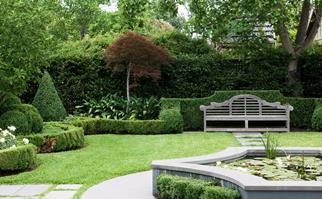 Classical garden water feature