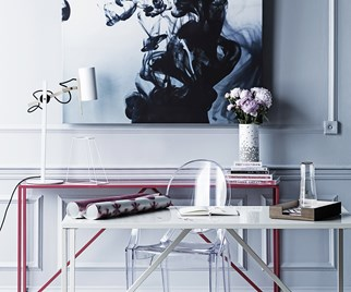 Contemporary monochrome office space