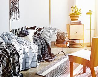 Clash patterns in your bedroom for a fresh look