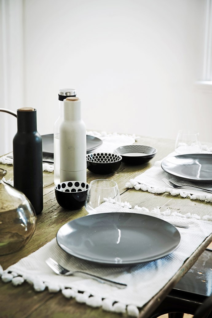 """Carmel picked up this collection of stylish crockery and placemats from [Freedom](http://www.freedom.com.au/