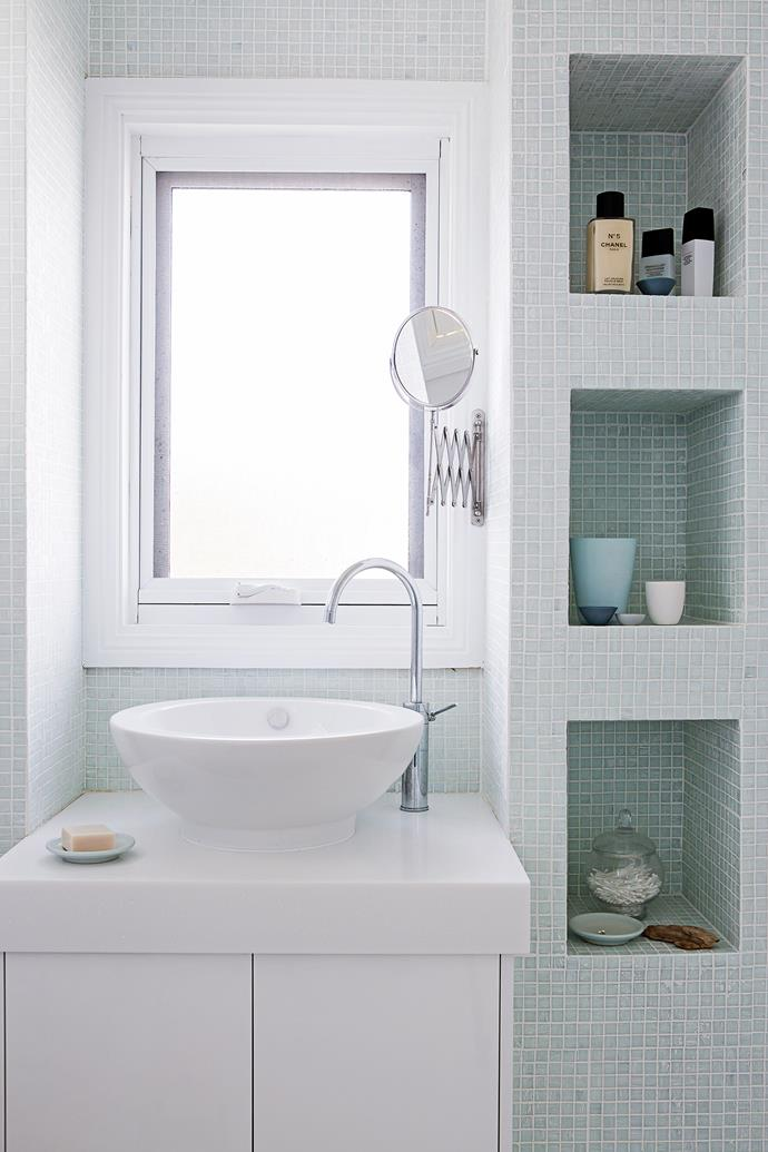 The window behind the basin provides plenty of natural light.