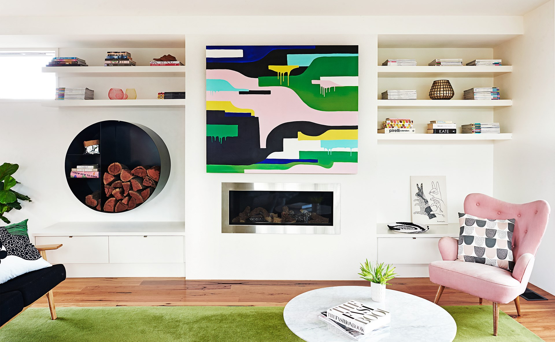 """Splashes of pastel pink complement the contemporary feel of this [family home](http://www.homestolove.com.au/gallery-sarah-and-deans-picture-perfect-rental-1982 target=""""_blank""""). Photo: Nikole Ramsay"""