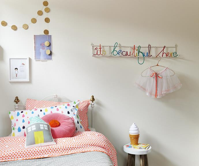"Bright colours and contemporary design are used to great effect in little Liv's bedroom in their [Victorian coastal property](http://www.homestolove.com.au/gallery-sarah-and-deans-picture-perfect-rental-1982/?utm_campaign=supplier/|target=""_blank""). Photo: Nikole Ramsay"
