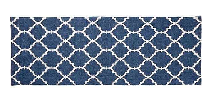 "Trellis rug, $29 for 1.33m x 1.9m, from [Kmart](http://www.kmart.com.au/|target=""_blank"")."