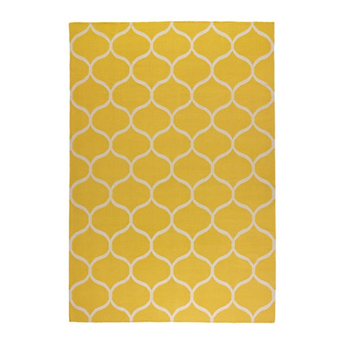 """Stockholm rug, net pattern in Yellow, $299 for 1.7m x 2.4m, from [Ikea](http://www.ikea.com.au/