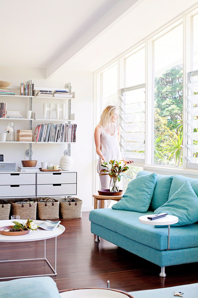 If you're organised, exposed filing and storage can look great in tall open shelving units. Photo: Chris Warnes / bauersyndication.com.au