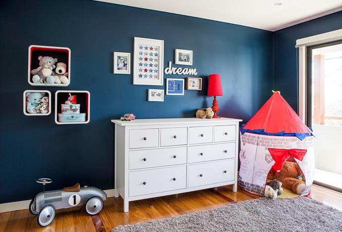 Making space for toys – and teaching kids to use it – will keep the room tidy. Photo: Maree Homer / bauersyndication.com.au