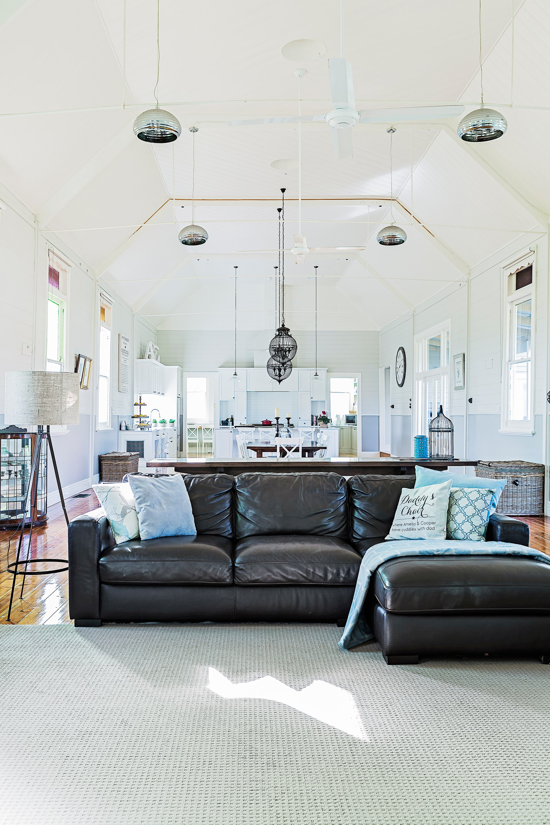 """This 125-year-old church hall was converted into a charming country-style home for a family of four based in Little River, a small village southwest of Melbourne. See more of this [clever church-hall conversion](http://www.homestolove.com.au/gallery-tash-and-pauls-church-hall-conversion-2006